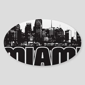 Miami Skyline Sticker (Oval)