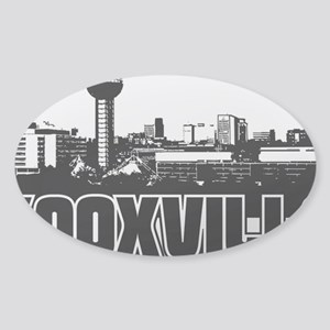 Knoxville Skyline Sticker (Oval)