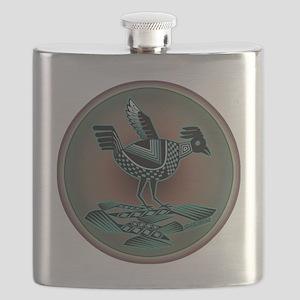 Mimbres Teal Quail Flask