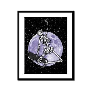 Board Skeleton Framed Panel Print