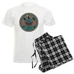 Mimbres Teal Quail Men's Light Pajamas