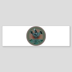 Mimbres Teal Quail Sticker (Bumper)