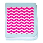 Hot pink chevron baby blanket