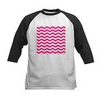 Hot pink chevron Baseball Jersey