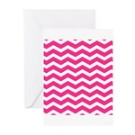Hot pink chevron Greeting Cards (Pk of 20)