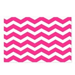 Hot pink chevron Postcards (Package of 8)