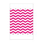 Hot pink chevron Poster Print (Mini)