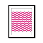 Hot pink chevron Framed Panel Print