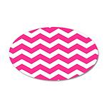 Hot pink chevron Wall Sticker