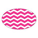Hot pink chevron Sticker