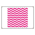 Hot pink chevron Banner