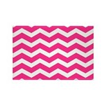 Hot pink chevron Rectangle Magnet (100 pack)
