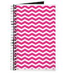 Hot pink chevron Journal