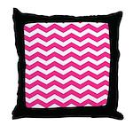 Hot pink chevron Throw Pillow