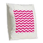 Hot pink chevron Burlap Throw Pillow