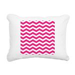 Hot pink chevron Rectangular Canvas Pillow
