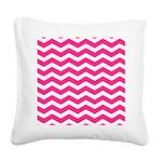 Hot pink chevron Square Canvas Pillow