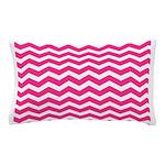 Hot pink chevron Pillow Case