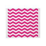 Hot pink chevron Throw Blanket
