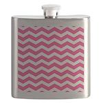 Hot pink chevron Flask
