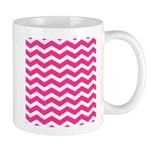 Hot pink chevron Small Mug