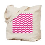Hot pink chevron Tote Bag