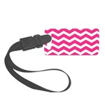 Hot pink chevron Small Luggage Tag
