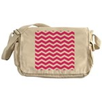 Hot pink chevron Messenger Bag