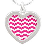 Hot pink chevron Necklaces