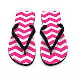 Hot pink chevron Flip Flops