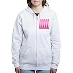 Hot pink chevron Zip Hoody