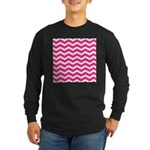 Hot pink chevron Long Sleeve T-Shirt