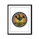 Mimbres Sunset Quail Framed Panel Print