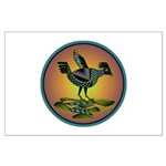 Mimbres Sunset Quail Large Poster