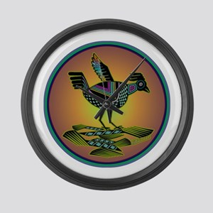 Mimbres Sunset Quail Large Wall Clock