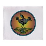 Mimbres Sunset Quail Throw Blanket