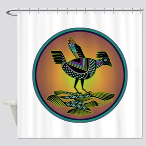 Mimbres Sunset Quail Shower Curtain