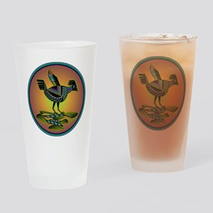 Mimbres Sunset Quail Drinking Glass