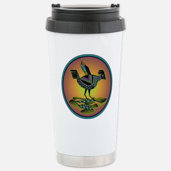 Mimbres Sunset Quail Stainless Steel Travel Mug