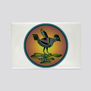 Mimbres Sunset Quail Rectangle Magnet