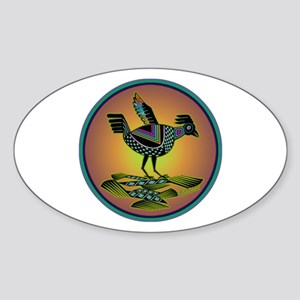 Mimbres Sunset Quail Sticker (Oval)