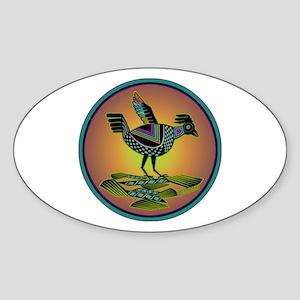 Mimbres Sunset Quail Sticker (Oval)