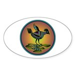 Mimbres Sunset Quail Sticker (Oval 50 pk)