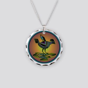 Mimbres Sunset Quail Necklace Circle Charm