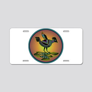 Mimbres Sunset Quail Aluminum License Plate