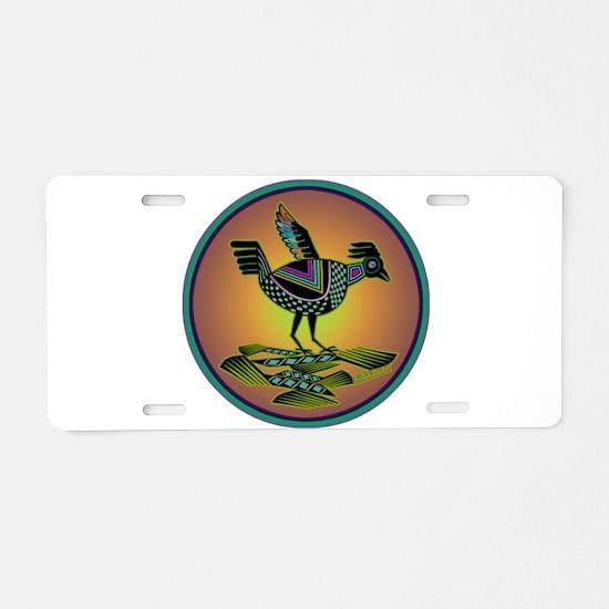 Mimbres Sunset Quail Aluminum License Plate