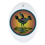Mimbres Sunset Quail Ornament (Oval)