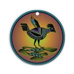 Mimbres Sunset Quail Ornament (Round)