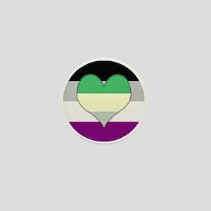 Aromantic Asexual Heart #2 Mini Button