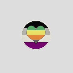 Aromantic Asexual Heart #1 Mini Button
